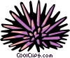 Vector Clipart graphic  of a sea urchin