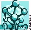 Atomium, Brussels Vector Clipart illustration