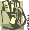 Vector Clipart graphic  of a shopping bag