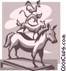 Vector Clipart graphic  of a statue