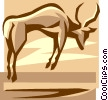 Vector Clip Art picture  of a bull