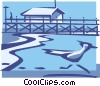 Vector Clip Art image  of a roadrunner