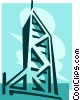 Vector Clip Art graphic  of a Bank of Hong Kong building
