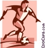 soccer player Vector Clipart picture