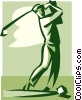 Vector Clip Art image  of a golfer