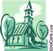 small church Vector Clipart illustration