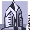 church steeple Vector Clipart graphic