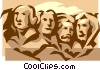 mount Rushmore Vector Clip Art picture