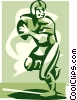 football player Vector Clip Art image