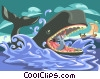 Jonah inside the whale Vector Clipart image