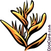 Vector Clipart picture  of a heliconia