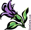 Vector Clipart picture  of a monkey flower