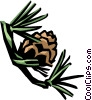Vector Clip Art image  of a larch branch