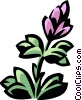 Vector Clipart graphic  of a lobelia