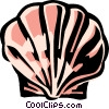 Vector Clip Art graphic  of a scallop shell