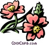 Vector Clip Art graphic  of a cherry blossom