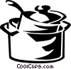 Vector Clipart picture  of a cooking pots