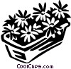 Vector Clipart illustration  of a flowers in a flower box