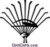 Vector Clipart image  of a garden rake