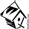 Vector Clip Art image  of a bird house