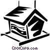 Vector Clip Art graphic  of a bird house