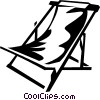 beach chair Vector Clipart image
