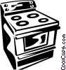 Vector Clip Art image  of a oven