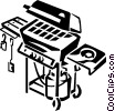 Vector Clipart graphic  of a barbecue