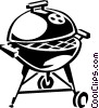 Vector Clip Art graphic  of a barbecue