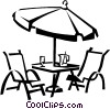 patio furniture Vector Clip Art graphic