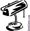 Vector Clipart image  of a desk lamp