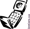 Vector Clip Art image  of a cellular phone