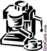 Vector Clip Art picture  of a coffee maker