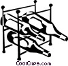 wine rack Vector Clipart illustration