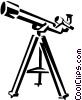 Vector Clip Art graphic  of a telescope