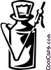 Vector Clip Art graphic  of a pesticide