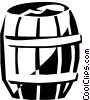 Vector Clipart picture  of a barrel