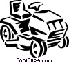 riding lawnmower Vector Clipart graphic