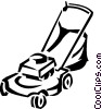 lawnmower Vector Clipart graphic
