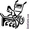 Vector Clip Art image  of a snow blower