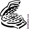 Vector Clipart picture  of a waffle maker