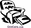 Vector Clip Art image  of a recline chair
