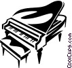 grand piano Vector Clipart image
