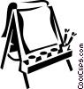 Vector Clip Art picture  of a easel