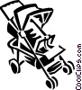 Vector Clip Art graphic  of a stroller