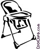 Vector Clipart image  of a high chair