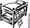 Vector Clip Art graphic  of a bunk beds