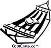 Vector Clipart image  of a hammock
