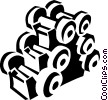 Vector Clipart graphic  of a weights
