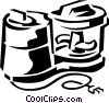 Vector Clip Art image  of a food processor